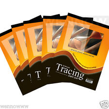 5 Pcs 9 x 12 inch Premium Quality Tracing Paper Pad 30 Sheets