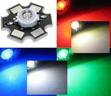 Hi-Power LED 1W 3W STAR Weiß Warmweiß Kaltweiß Blau Royalblau Rot Tiefrot Grün