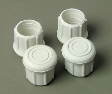 """4 Pack 1-1/4"""" Rubber Tips- Cane, Crutch or Chair- White         CT-1.25W"""