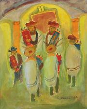 Simon Natan Karczmar (Russian, 1903 – 1982) Oil painting on canvas Judaica