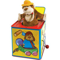 Childrens Traditional Metal Wind Up Musical Animal Jack In The Box Toy Gift 9487