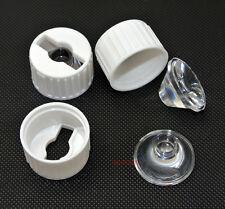 10pcs Led Lens 90 degree for 1W 3W high power LED White Holder