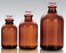 30ml Amber 50ml Amber 100ml Amber Serum Vials