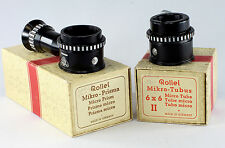 Rolleiflex Micro Attachment, Bay II - Micro Tube and Micro Prism Sets in boxes