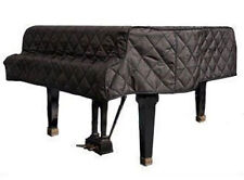 "Grand Piano Cover - Black Quilted - For Pianos From 6'10"" - 7'0"" - Side Slits"