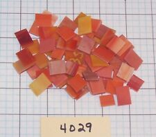 "3.5oz- 1/2"" X Various - Rectangle Stained Glass Mosaic Tiles Mixed Oranges #4029"