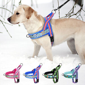 Dog Harness No Pull Padded Adjustable Front Clip Puppy Vest Reflective XS S M L