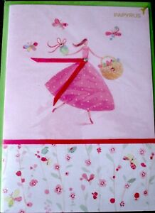 Papyrus Gemmed Girl with Easter Basket & Butterflies Easter Greeting Card