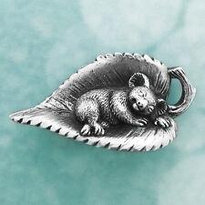 Australian Sleeping Baby Koala Souvenir Pewter Fridge Magnet Australiana Gift