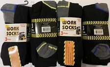 12 Pairs Work Socks Long Lasting Cotton Rich Size 6 - 11