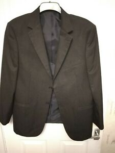 PREOWNED MENS MARKS AND SPENCER SUIT JACKET 42 SHORT TROUSERS 36/31 CHARCOAL