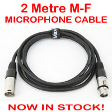 2M Balanced XLR Microphone Mic Patch Audio Sound Cannon Cable Lead Cord 2 Metre
