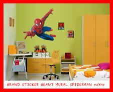 GRAND STICKER GEANT MURAL 110X90 SPIDERMAN DECO POSTER JEU JOUET ENFANT CHAMBRE