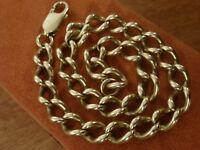 9k 9ct Solid Gold Heavy Vintage Curb Bracelet. 6.8mm, 23.5cm 21.02g