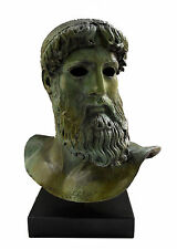 Zeus or Poseidon Bronze sculpture statue bust real size ancient Greek artifact