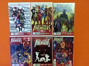UNCANNY AVENGERS #1-25 + ANNUAL 1 / REMENDER X-MEN WOLVERINE / NM NEAR FULL RUN!