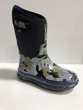Bogs Outdoor Boots Boys Rain Geo Pattern Waterproof Rubber Round 72530