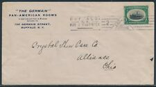 #294 2ND DAY COVER MAY 2,1901 BUFFALO, NEW YORK TO OHIO BU3630