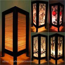 Wooden Asian/Oriental 21cm-40cm Height Lamps