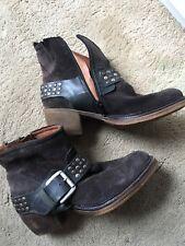 Josef Siebel Cowboy Ankle Boots Suede,Block Heel 4cm Ladies Size 4(37)Used