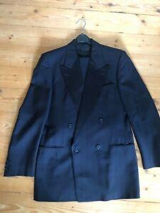 Hugo BOSS Black Vintage Smoking Mitternachtsblau M 94 Sakko Blazer + Schutzsack