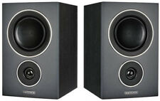 Mission LX-1 Bookshelf Speakers (Pair) Black Wood (2-Way Bookshelf Speakers)