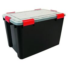50 Litre Weathertight Airtight Black/Clear Plastic Damp Area Dry Storage Boxes!