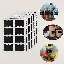 48 pcs/ensemble tableau noir autocollant pour pot de cuisine, chalk autocollants