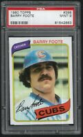 1980 Topps Barry Foote Chicago Cubs #398 PSA 9 MINT SET BREAK