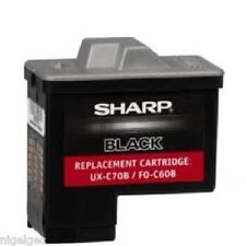 ORIGINAL SHARP UX-C70B BLACK INKJET CARTRIDGE FOR B700 B30 B60 UXB700 UX30 UX60