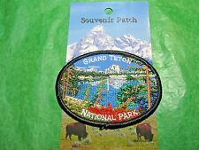 GRAND TETON NATIONAL PARK  EMBROIDERED PATCH WYOMING TRAVEL SOUVENIR-P64