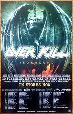 OVER KILL Ironbound Ltd Ed RARE Signed By Bobby Blitz Ellsworth Tour Poster