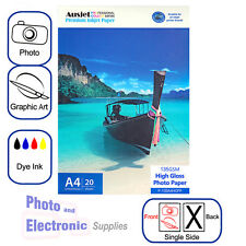 A4 High Gloss Photo Paper for Dye-based Inkjet 135gsm (20 Sheets), Glossy