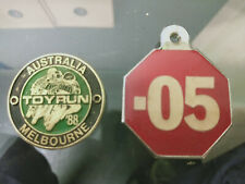 Rare Vintage Collectable Keyring Badge .05 & Toy Run 88