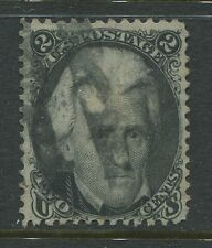 USA 1861 2 cent black Andrew Jackson Fine used