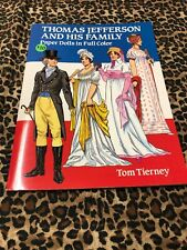 Paper Dolls Tom Tierney Uncut Thomas Jefferson and His Family 1992