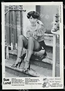1980s a Fashion Model Agency index Card - Sue Lund - Blackpool Model Agency