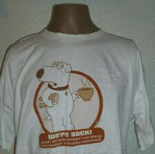 Family Guy Shirt T-shirt BRIAN We're Back Promo Vtg 2006 Size XL White