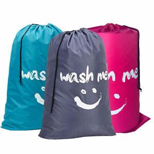 Smile Shape Nylon Laundry Bag Wash Me Pouch Washable Organizer Drawstring Bag ⭐⭐