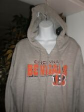 NFL APPAREL Cincinnati Bengals WOMEN DISTRESSED LOGO HOODED SWEATSHIRT SZ:1X