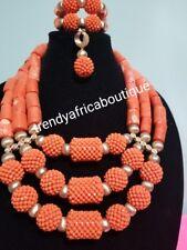 Sale sale: Original Edo/Nigerian women Coral-necklace set. 3 row  latest cora be