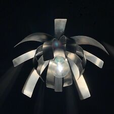 Suspension fleur en inox vintage Jocelyne Trocmé pour Oxar