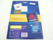 AVERY 35947 ID SIGNALLING FLUORO PRINTABLE LASER 400 LABELS 99.1x34MM L7163FY