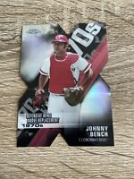 Johnny Bench 2020 Topps Chrome REFRACTOR Decade Of Dominance Die Cut - Reds