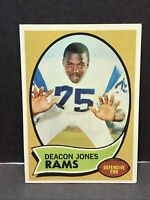 1970 TOPPS FOOTBALL LOS ANGELES RAMS DEACON JONES CARD #125 HOF EX-NM