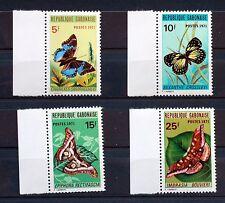 Timbres du GABON  PAPILLONS  serie complete MNH  Scott 272/5  88M628