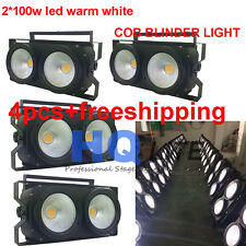 4pcs-pack led warm white 200W-2*100W COB Audience light wash Blinder STAGE light