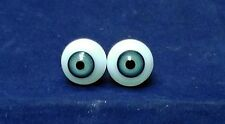 "pair of old glass eyes blue 16 mm / 0.65"" / 1930s"