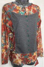 BNWT JOE BROWNS 10 multi orange mixed pattern Simon's favourite top long sleeve