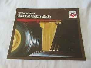 Versatile stubble mulch blade brochure